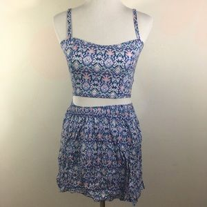 American eagle two piece skirt and top size S/M
